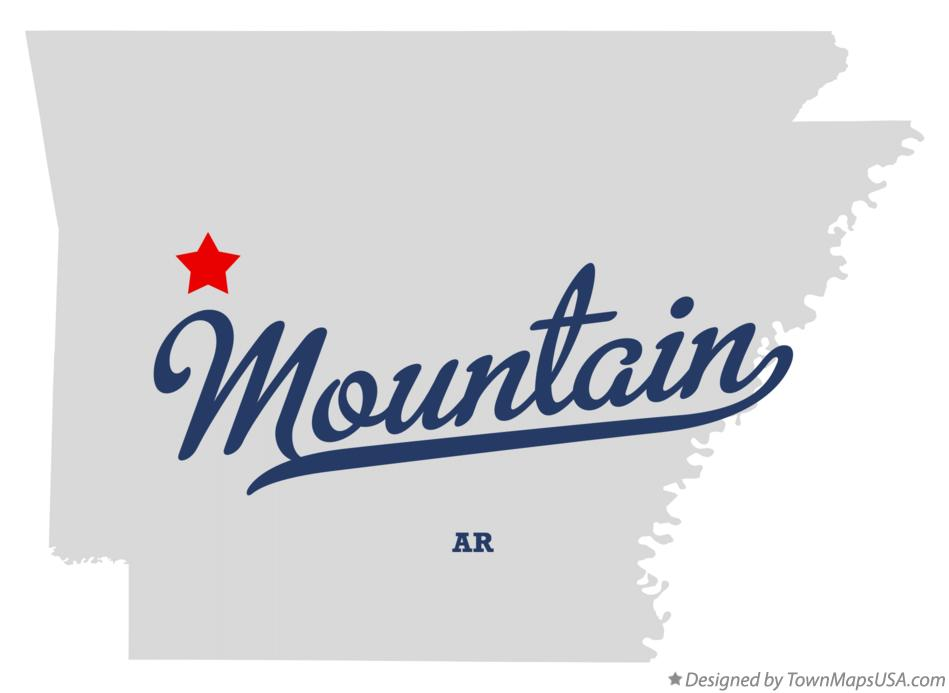 Map of Mountain Arkansas AR