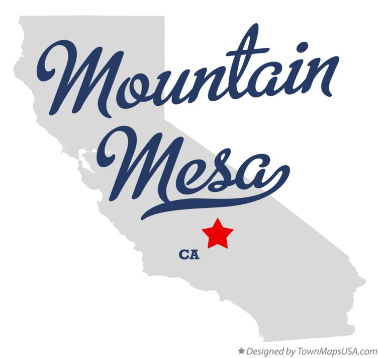 Map of Mountain Mesa California CA