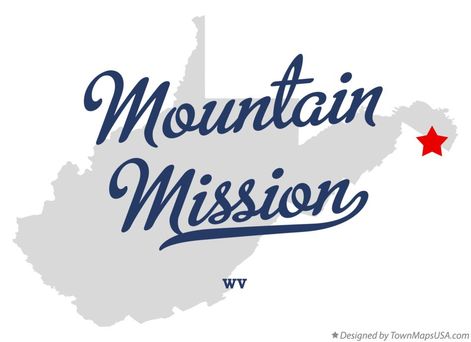 Map of Mountain Mission West Virginia WV