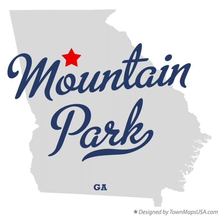 Map of Mountain Park Georgia GA