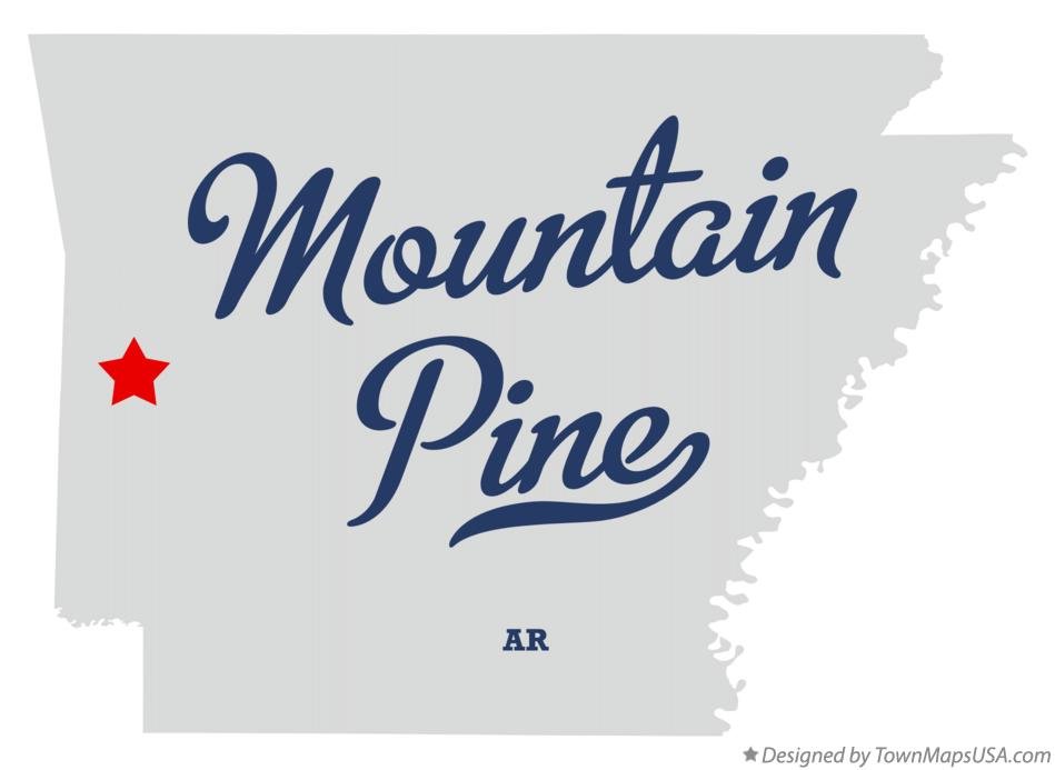 Map of Mountain Pine Arkansas AR