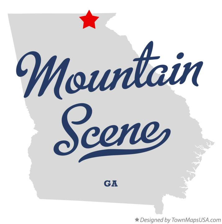 Map of Mountain Scene Georgia GA