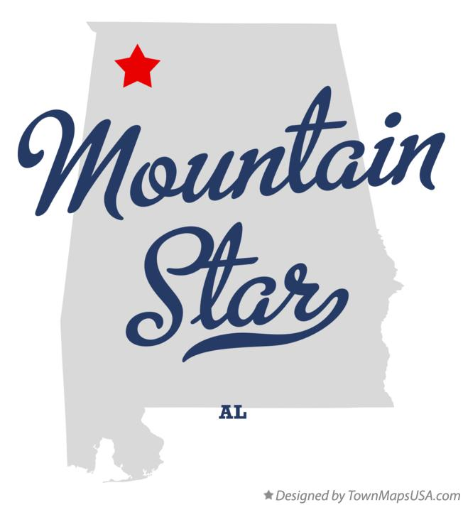 Map of Mountain Star Alabama AL