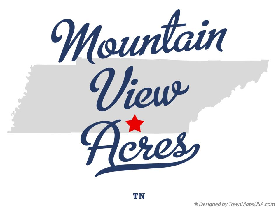 Map of Mountain View Acres Tennessee TN