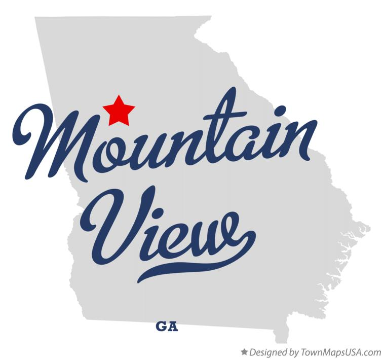 Map of Mountain View Georgia GA