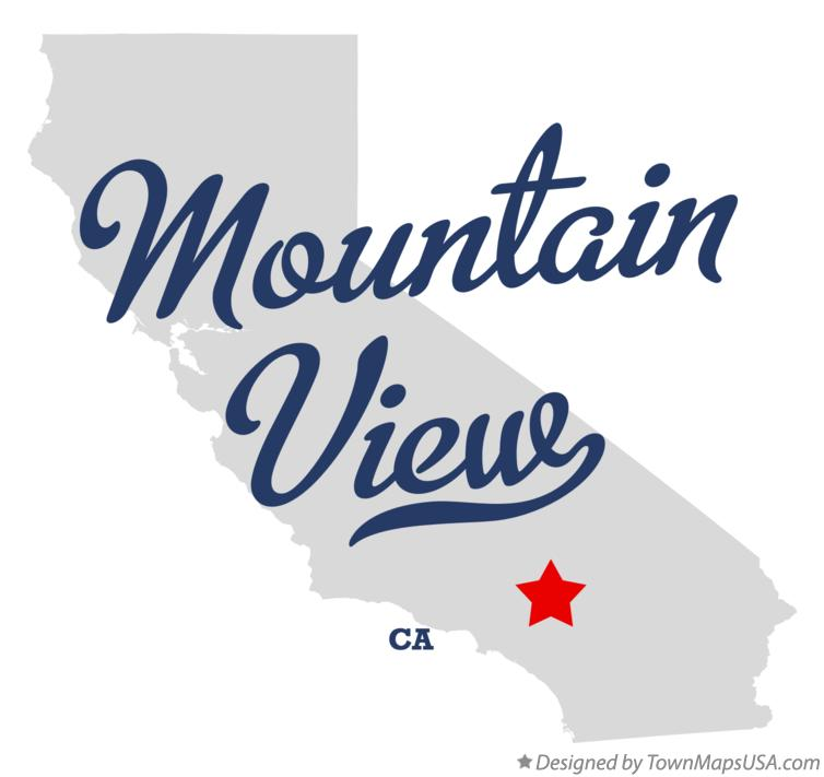 Map of Mountain View California CA