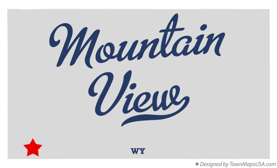Mountain View Wyoming Map.Map Of Mountain View Uinta County Wy Wyoming