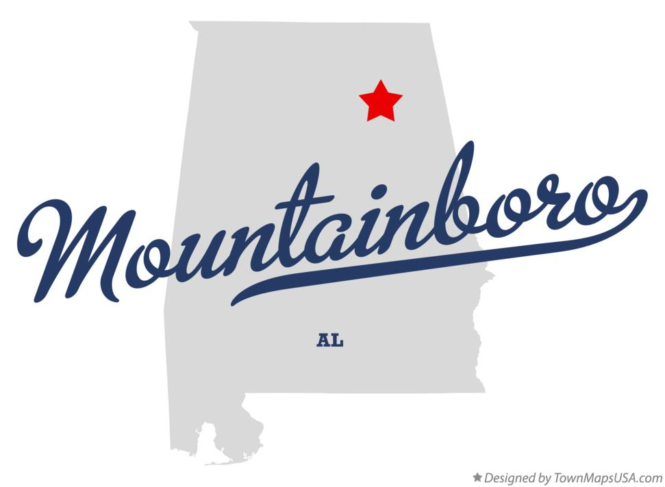 Map of Mountainboro Alabama AL