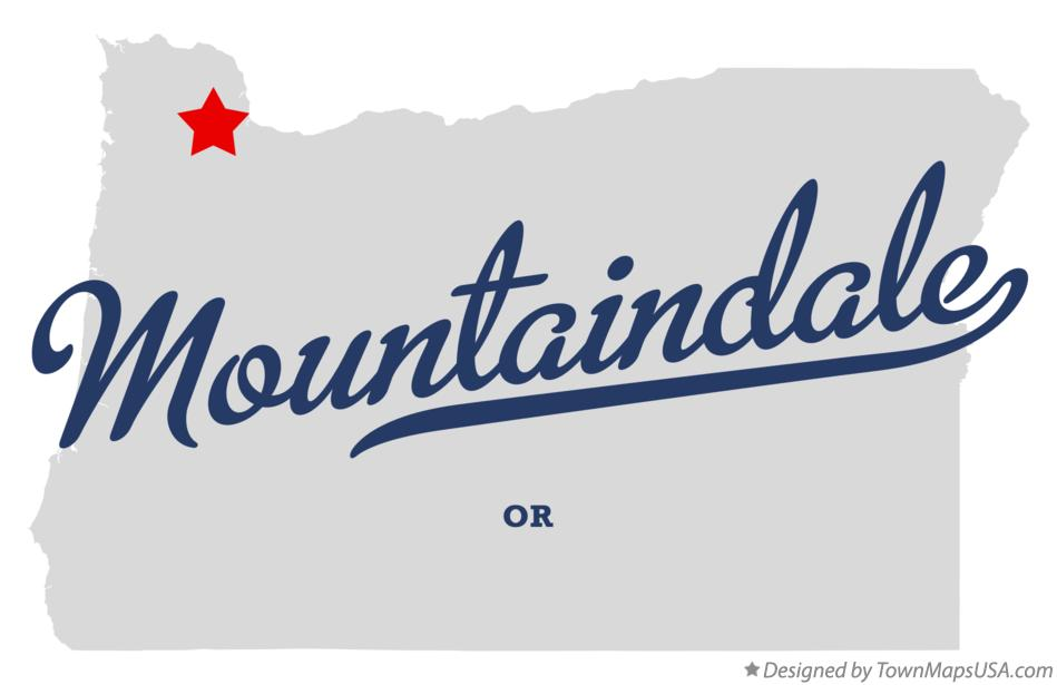 Map of Mountaindale Oregon OR