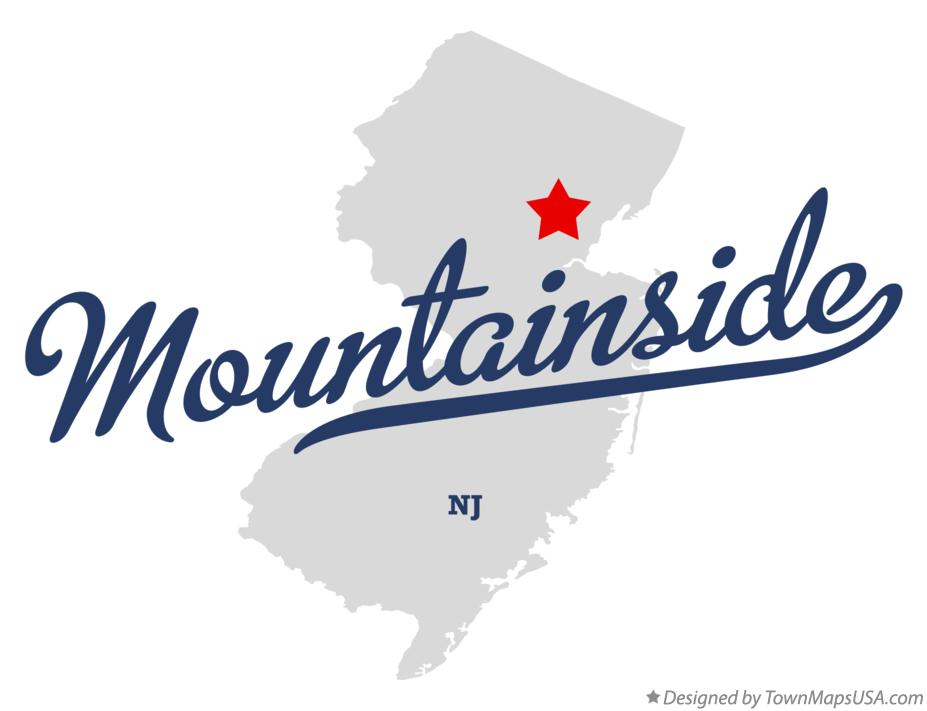 Map of Mountainside New Jersey NJ