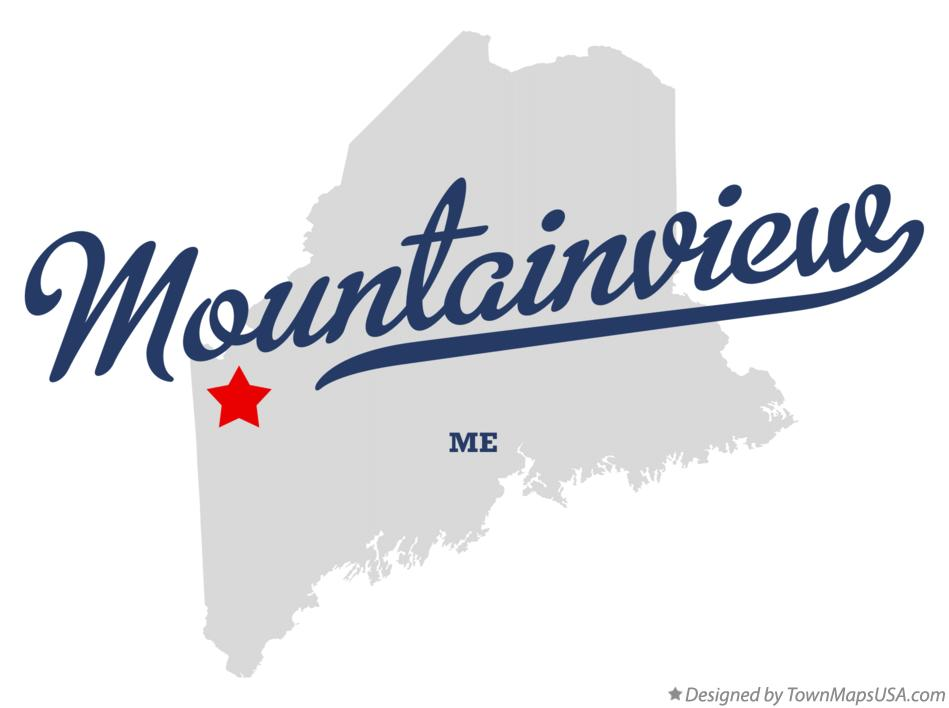 Map of Mountainview Maine ME