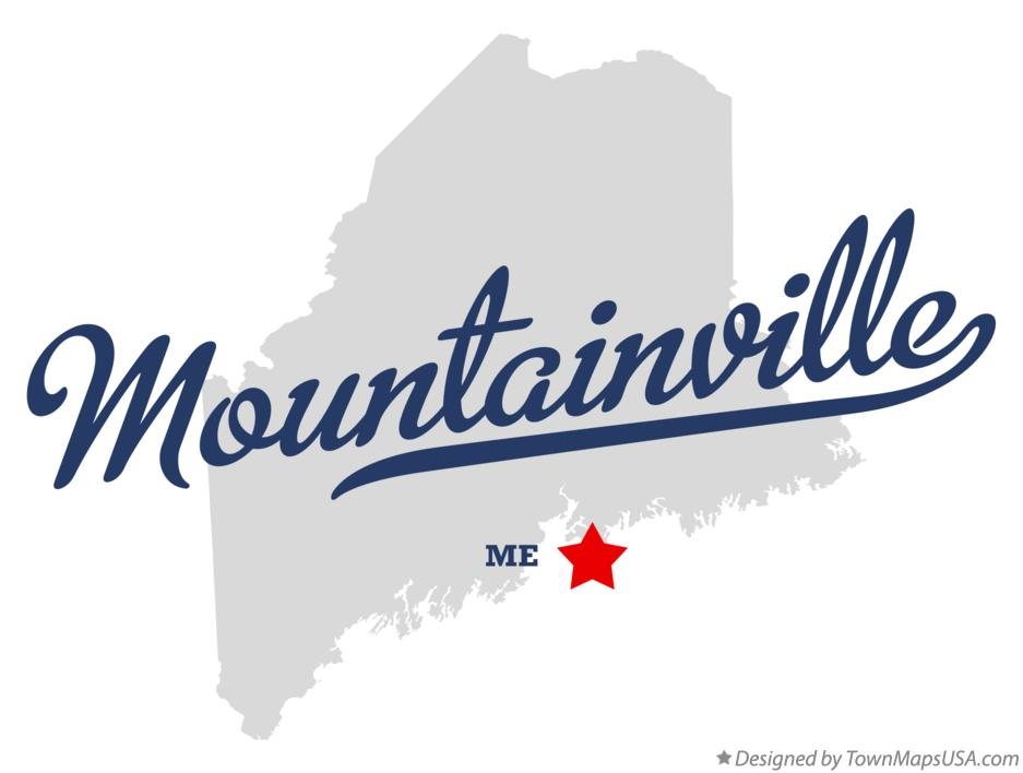 Map of Mountainville Maine ME