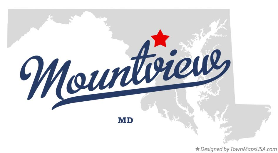 Map of Mountview Maryland MD