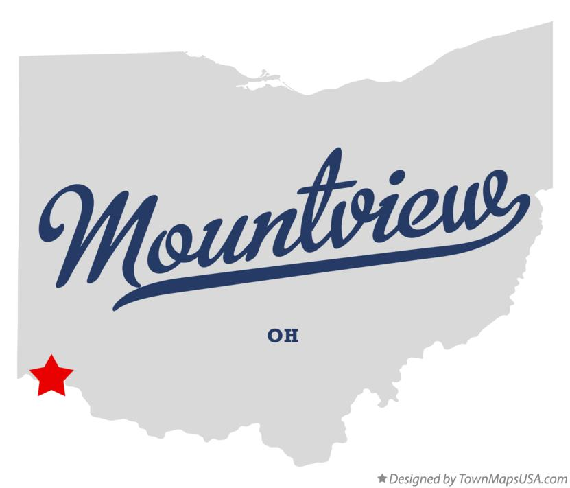 Map of Mountview Ohio OH