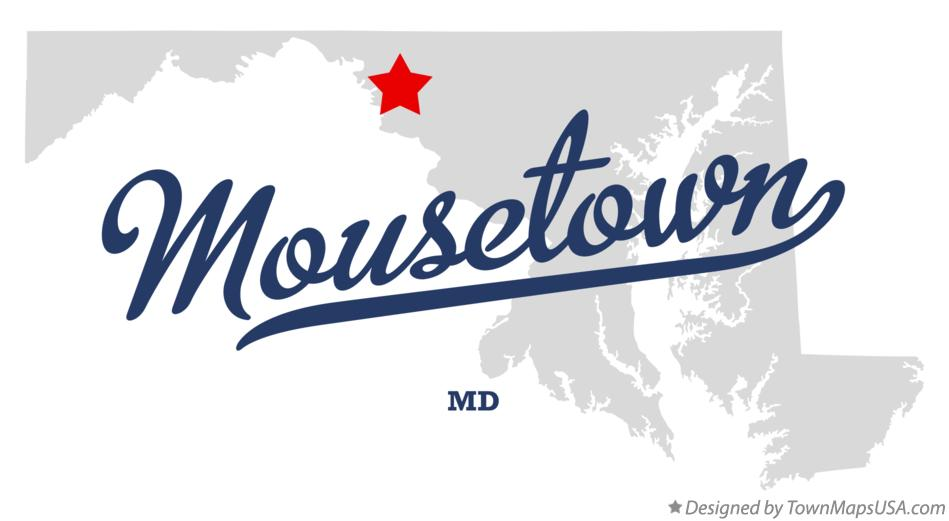 Map of Mousetown Maryland MD