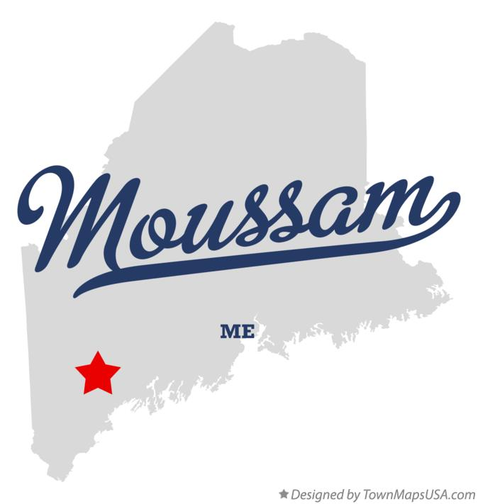 Map of Moussam Maine ME