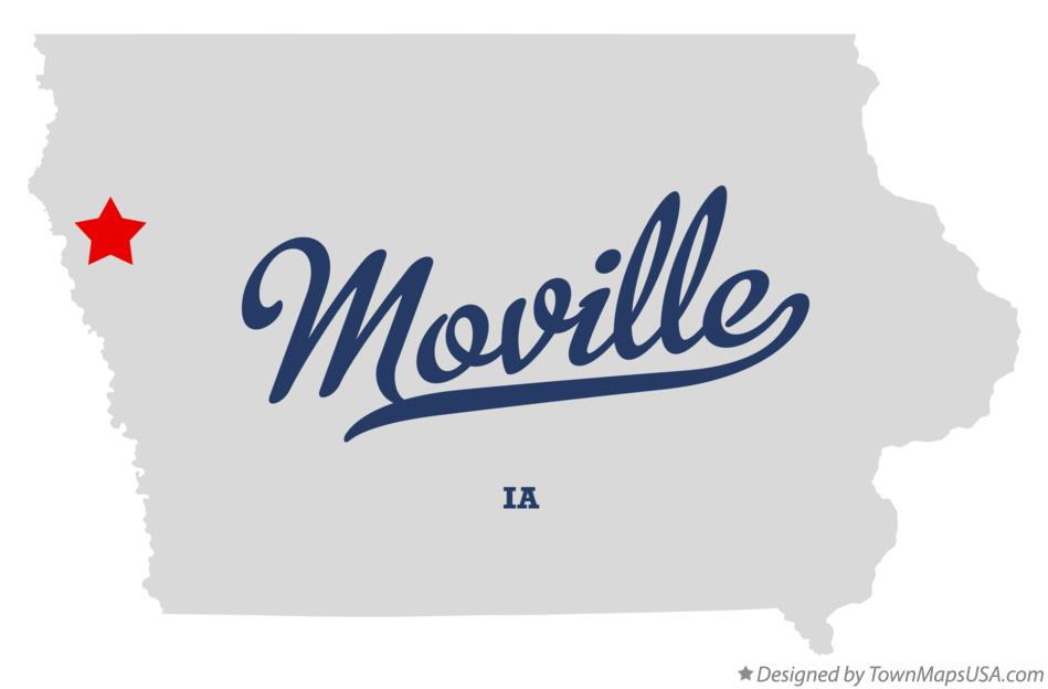 Map of Moville Iowa IA