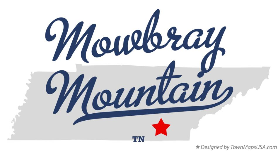 Map of Mowbray Mountain Tennessee TN