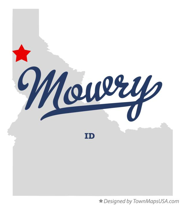 Map of Mowry Idaho ID