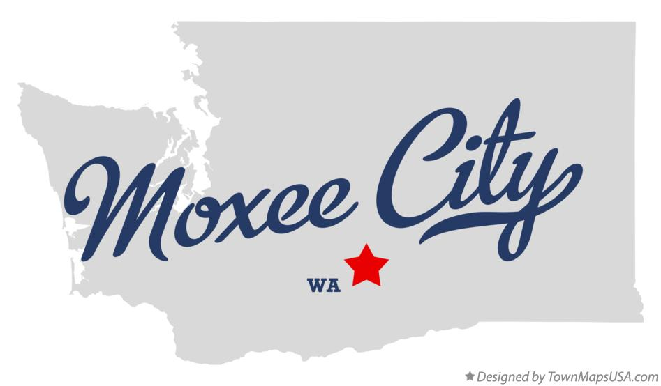 Map of Moxee City Washington WA