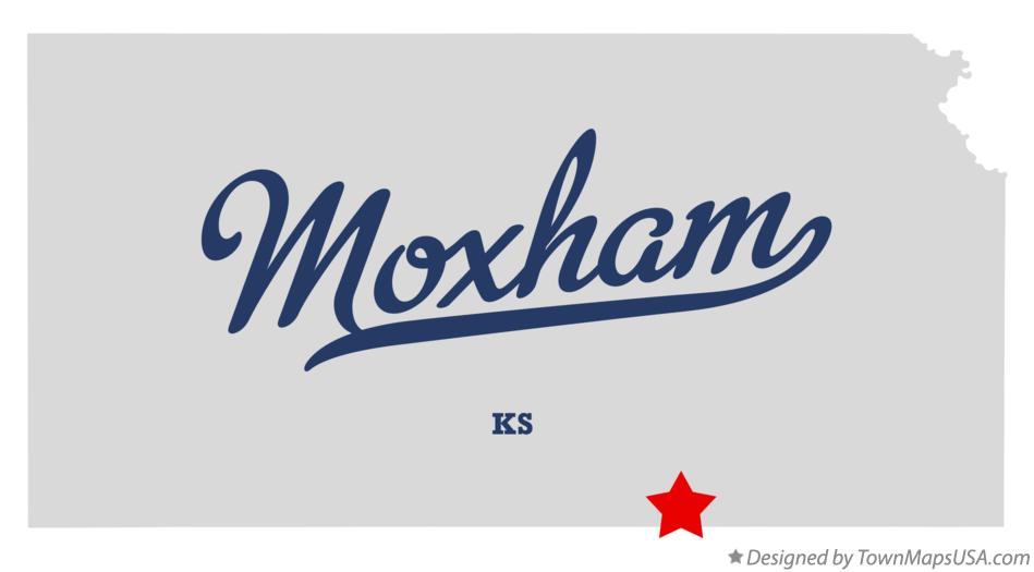 Map of Moxham Kansas KS