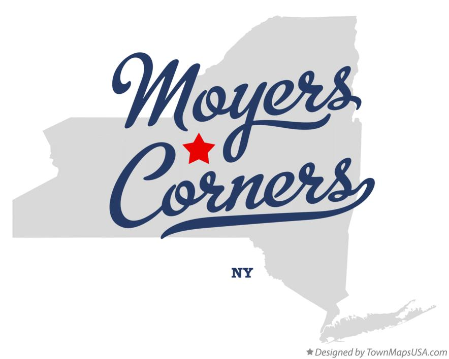 Map of Moyers Corners New York NY