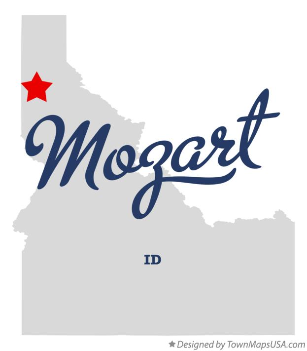Map of Mozart Idaho ID