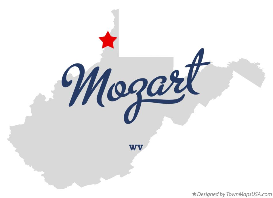 Map of Mozart West Virginia WV