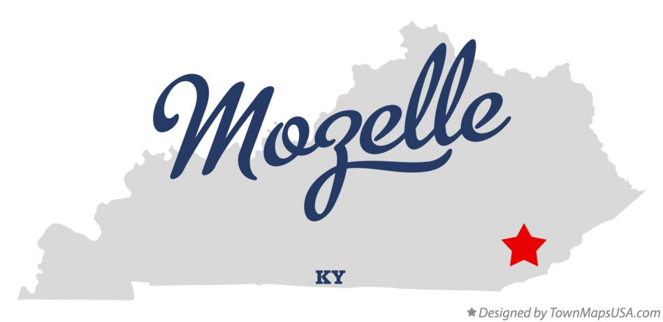 Map of Mozelle Kentucky KY