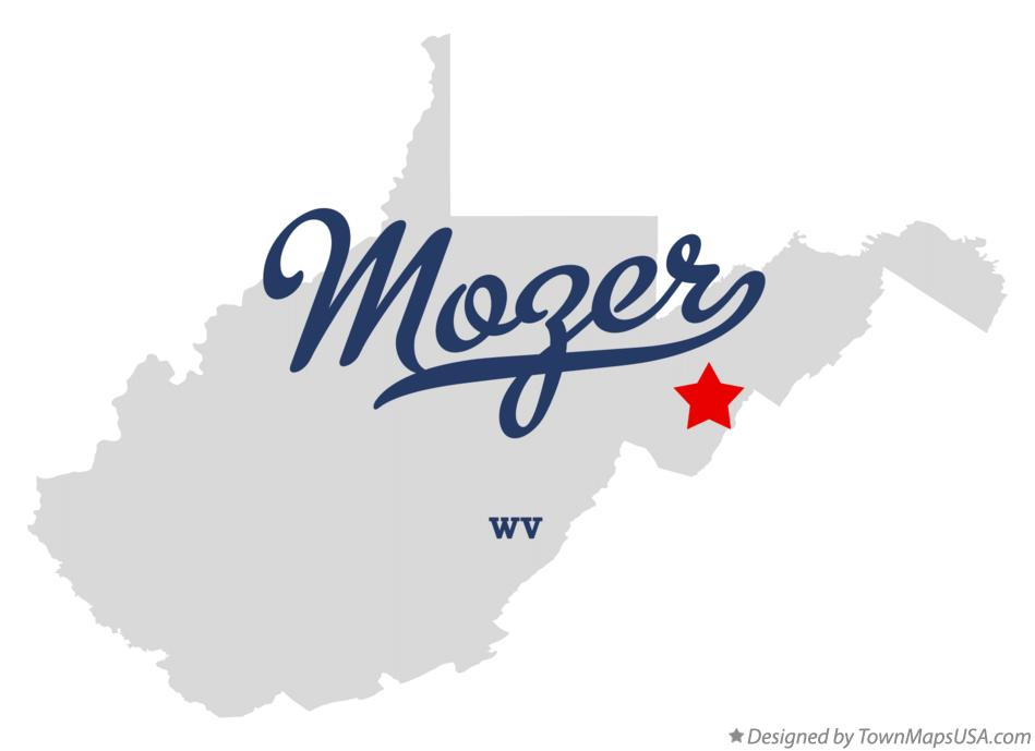Map of Mozer West Virginia WV
