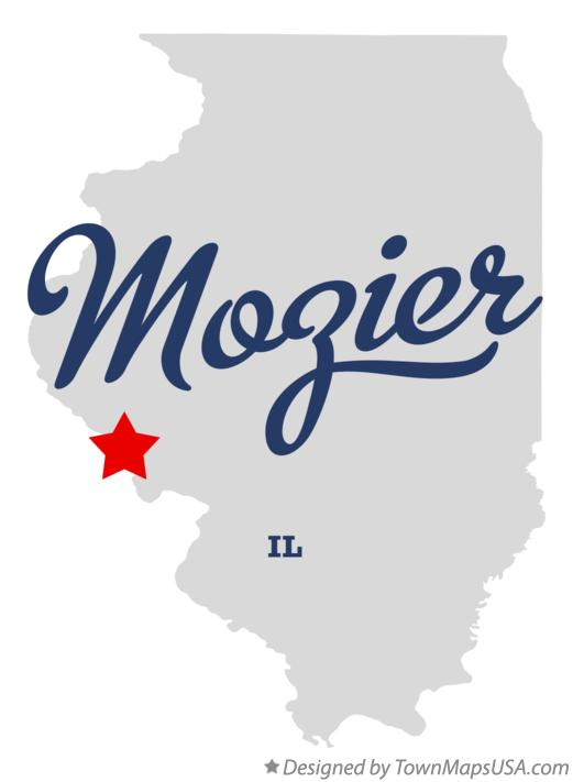 Map of Mozier Illinois IL