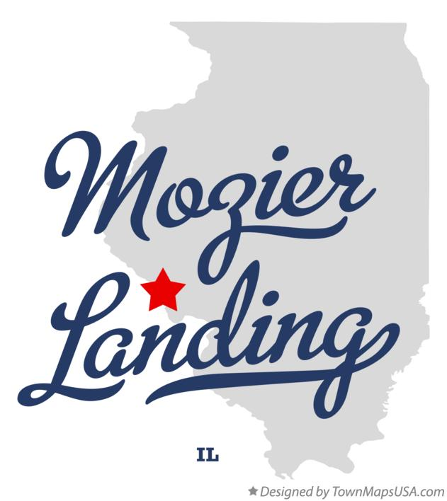 Map of Mozier Landing Illinois IL