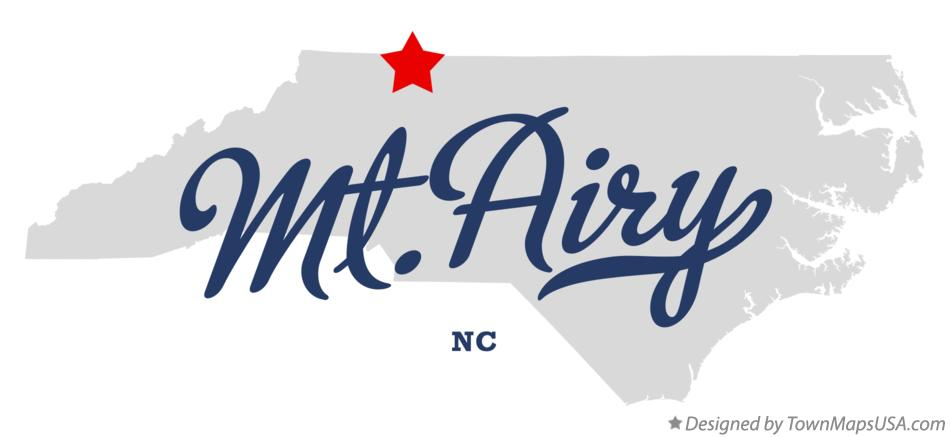 Map of Mt.Airy North Carolina NC