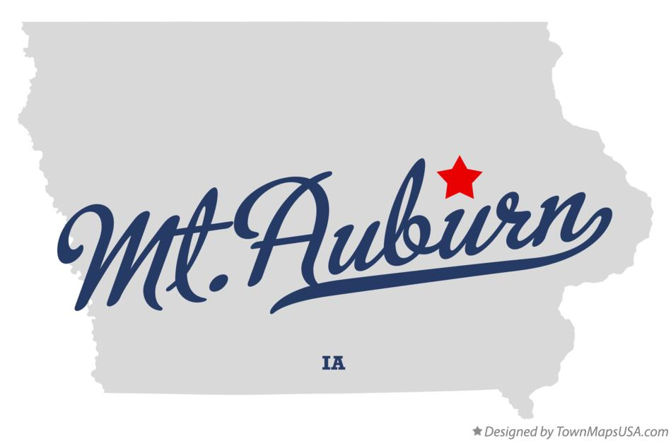 Map of Mt.Auburn Iowa IA