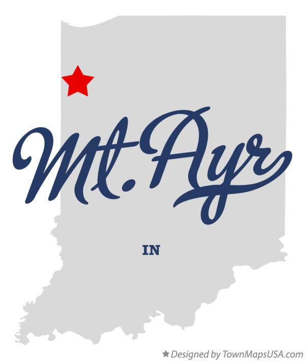 Map of Mt.Ayr Indiana IN