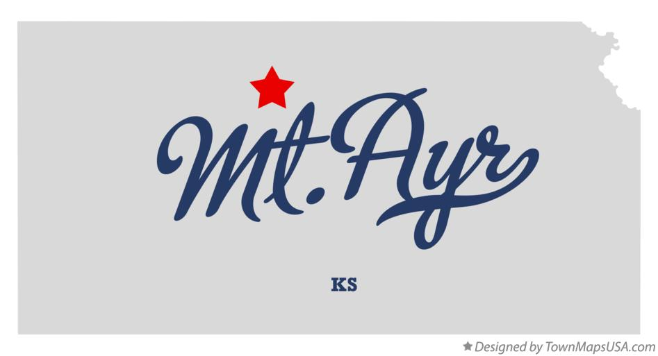 Map of Mt.Ayr Kansas KS