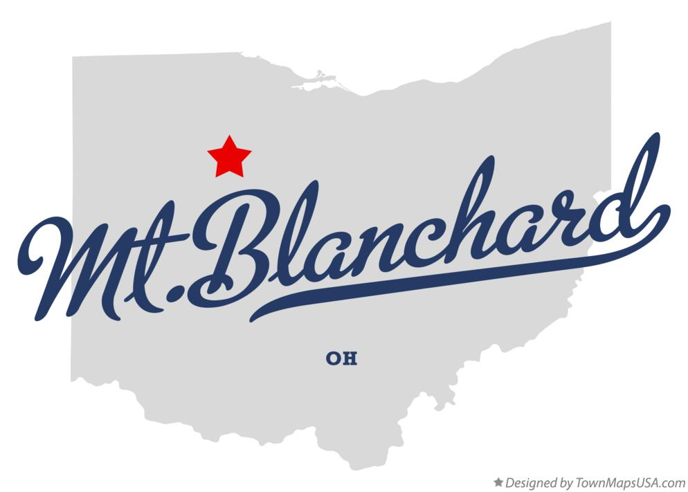Map of Mt.Blanchard Ohio OH