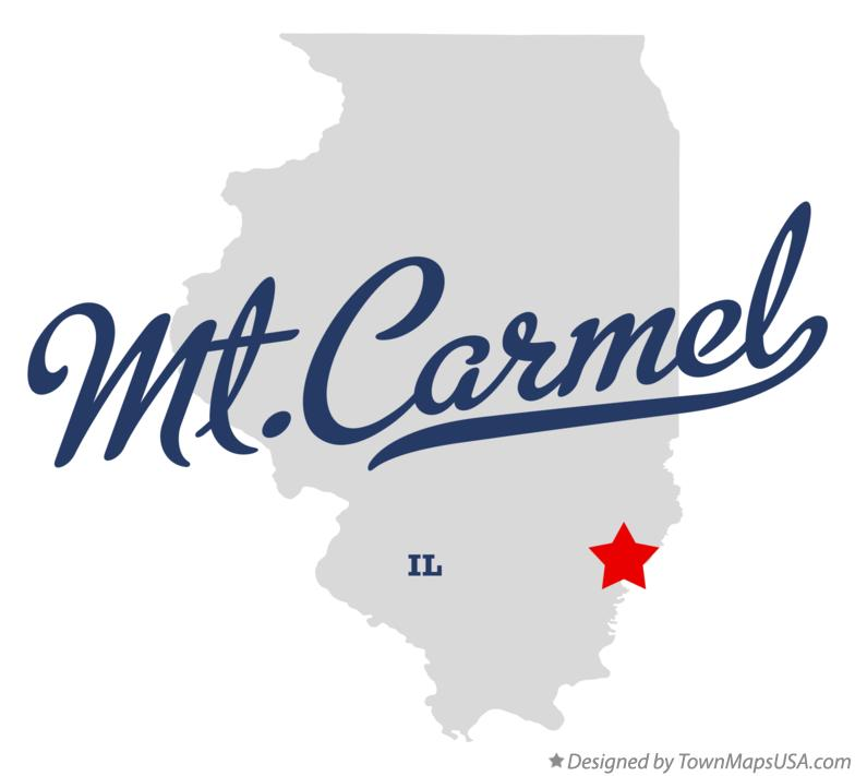 Map of Mt.Carmel Illinois IL
