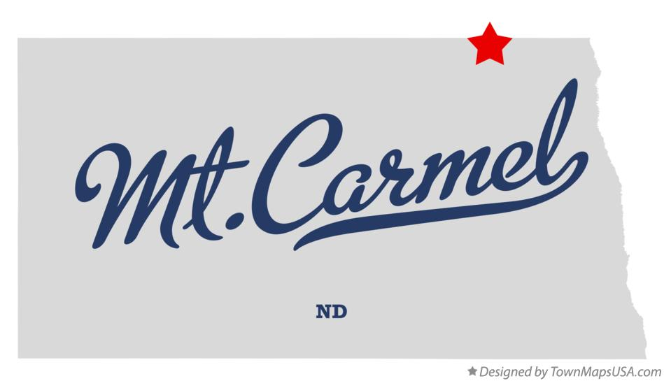 Map of Mt.Carmel North Dakota ND