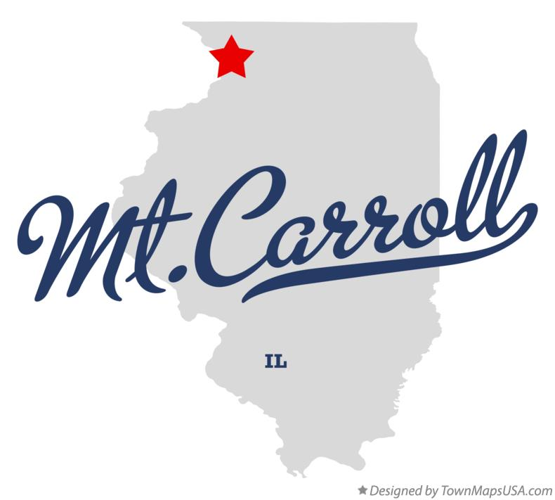 Map of Mt.Carroll Illinois IL