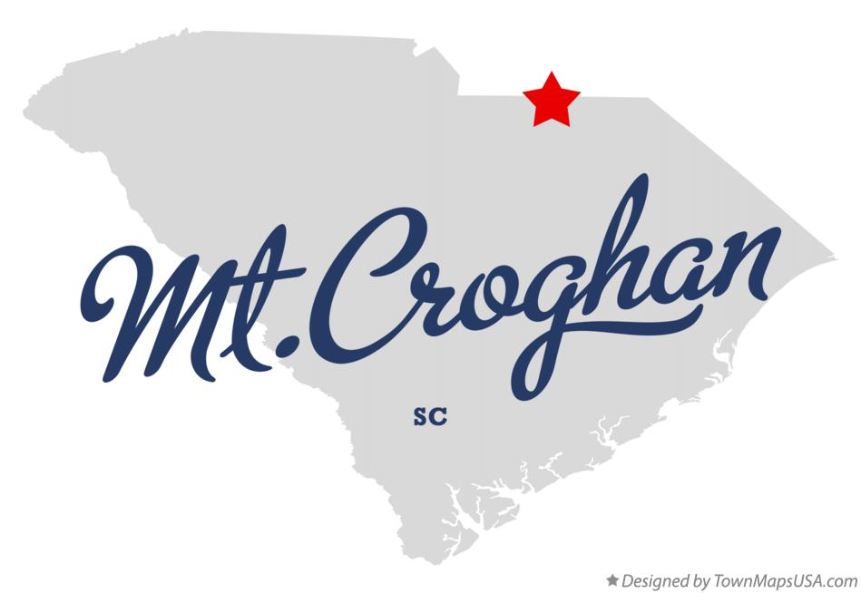 Map of Mt.Croghan South Carolina SC