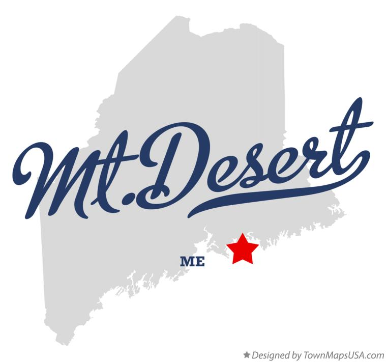 Map of Mt.Desert Maine ME