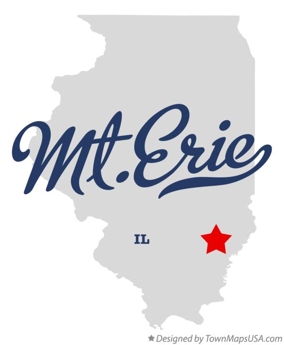 Map of Mt.Erie Illinois IL