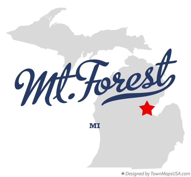 Map of Mt.Forest Michigan MI
