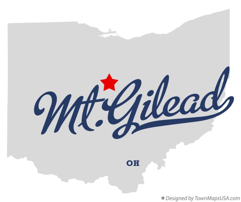 Map of Mt.Gilead Ohio OH