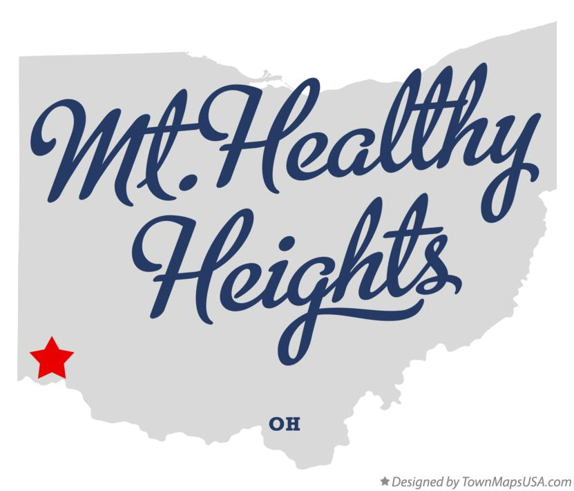 Map of Mt.Healthy Heights Ohio OH