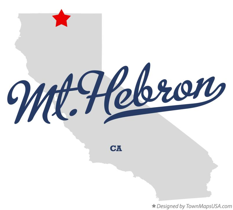 Map of Mt.Hebron California CA