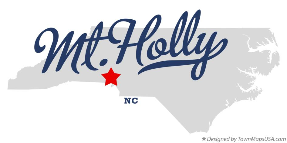Map Of Mt Holly Nc North Carolina