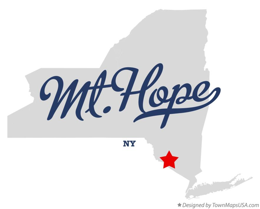 Map of Mt.Hope New York NY