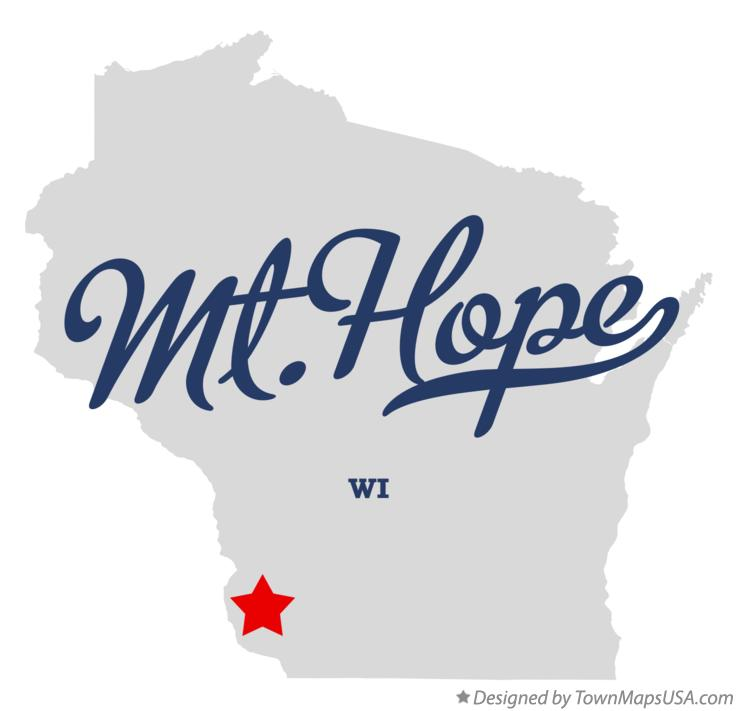 Map of Mt.Hope Wisconsin WI